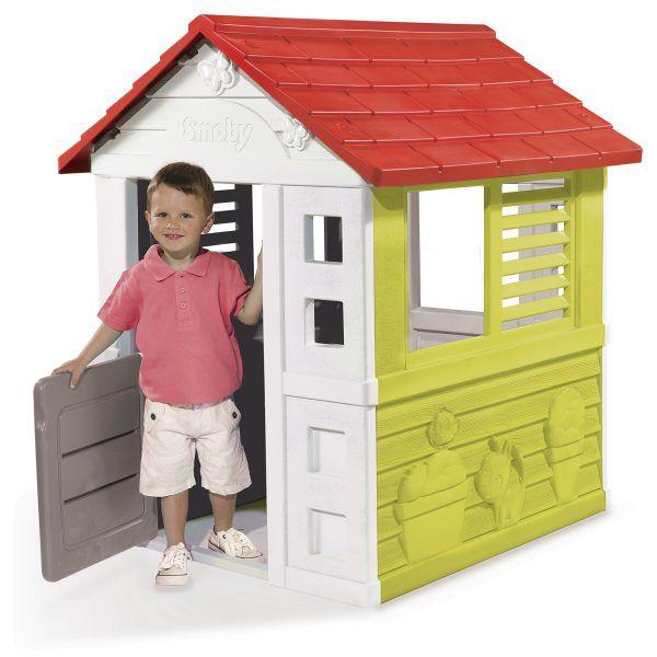 Casa de juguete Lovely verde, roja y blanca de Smoby (810705) 3