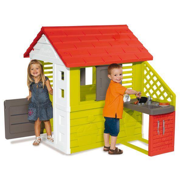 Casa infantil Nature II con cocina y accesorios de Smoby (810713) 3
