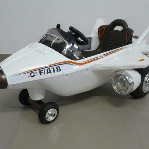 PEKECARS AVIÓN CAZA F-18 12V 2 CON R/C 2.4G WHITE