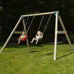 Columpio Infantil Masgames Kata Doble con asiento bebe