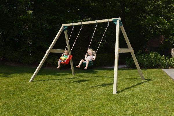 Columpio Infantil Masgames Kata Doble con asiento bebe 3