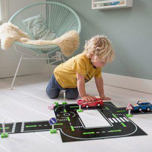 Set circuito de carretera y coches