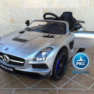 Mercedes Deportivo SLS, 12V, 2.4G Plata