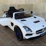 Mercedes Deportivo SLS Blanco para niños MP4