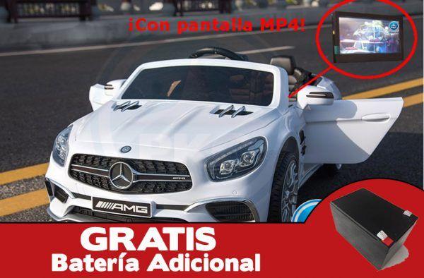 Mercedes SL65 12V 2.4G MP4 Blanco + Batería extra 3