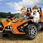 Kart Eléctrico 12V Polaris  Slingshot para dos niños