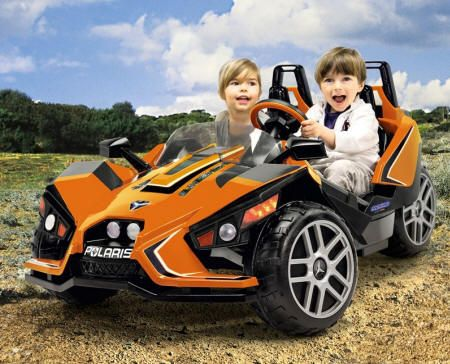 Kart Eléctrico 12V Polaris  Slingshot para dos niños 3