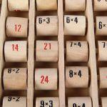 TABLA de Multiplicar ÁBACO DE MADERA