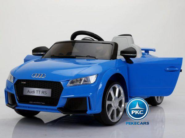 PEKECARS AUDI TT RS 12V BLUE 2.4G 3