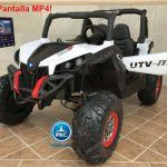 Buggy UTV Todoterreno 12V MP4 Blanco