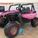 Buggy UTV Todoterreno 12V MP4 Rosa