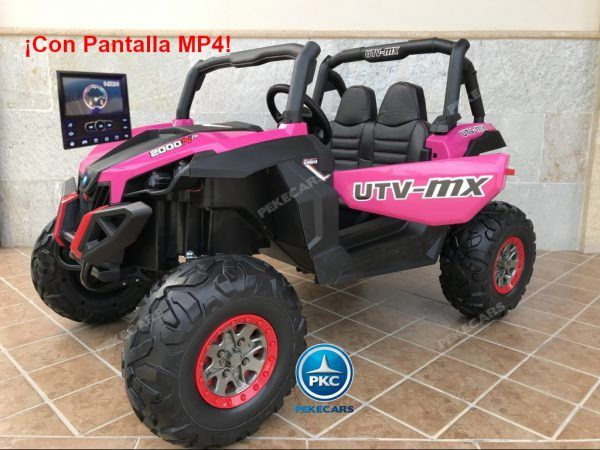 Buggy UTV Todoterreno 12V MP4 Rosa 3
