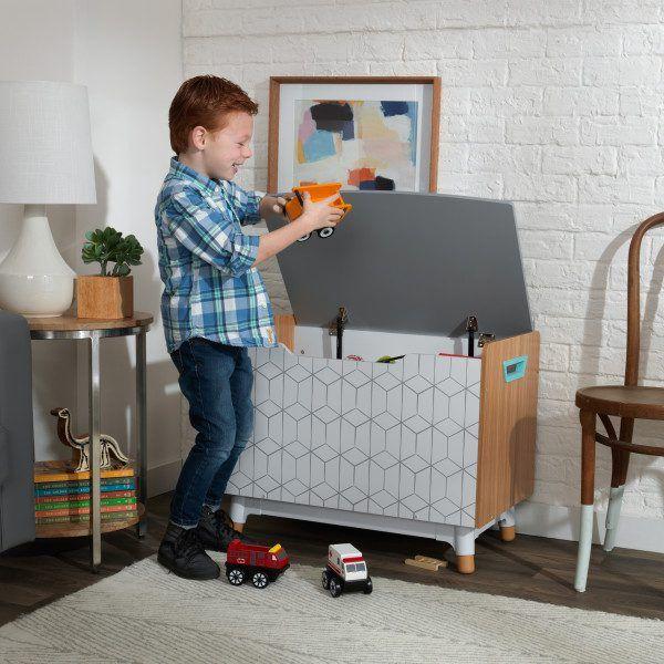 caja de juguetes de madera