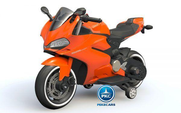 MOTOCICLETA DUCATI STYLE 12V ORANGE 3