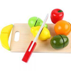 Juego para cortar Frutas de Madera