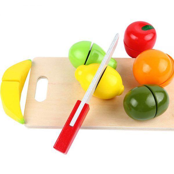 Juego para cortar Frutas de Madera 3