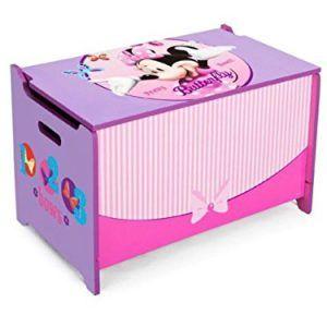 Caja de Juguetes de Madera Minnie Mouse