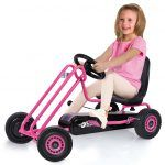 Kart a pedales Lightning Rosa