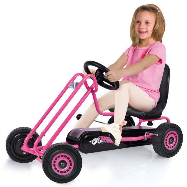 Kart a pedales Lightning Rosa 3
