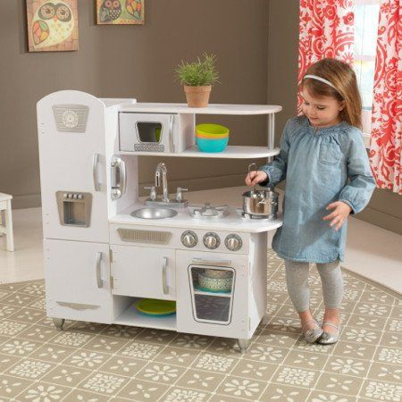 KIDKRAFT COCINA ESTILO RETRO COLOR BLANCO 53208 3