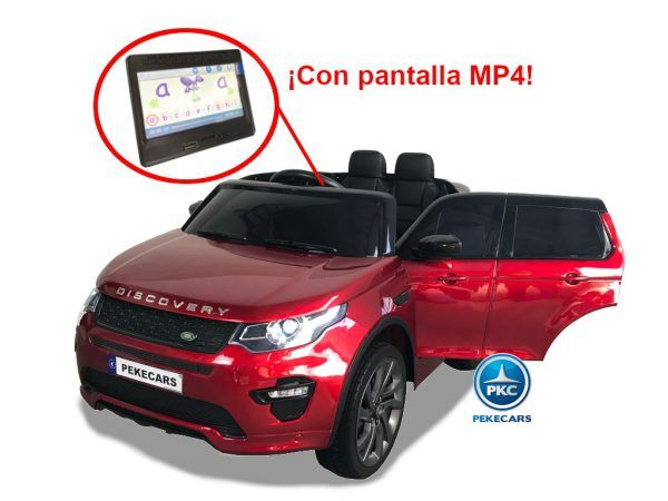 Land Rover Discovery 12V 2.4G MP4 Rojo Metalizado 3