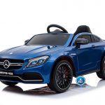Mercedes C63 12V 2.4G Azul Metalizado con Batería Extraíble