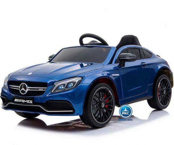 Mercedes C63 12V 2.4G Azul Metalizado con Batería Extraíble 3
