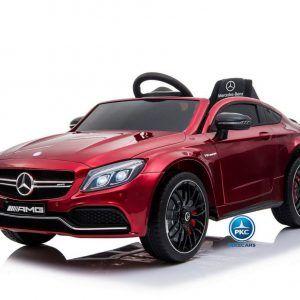 Mercedes C63 12V 2.4G Rojo Metalizado con Batería Extraíble