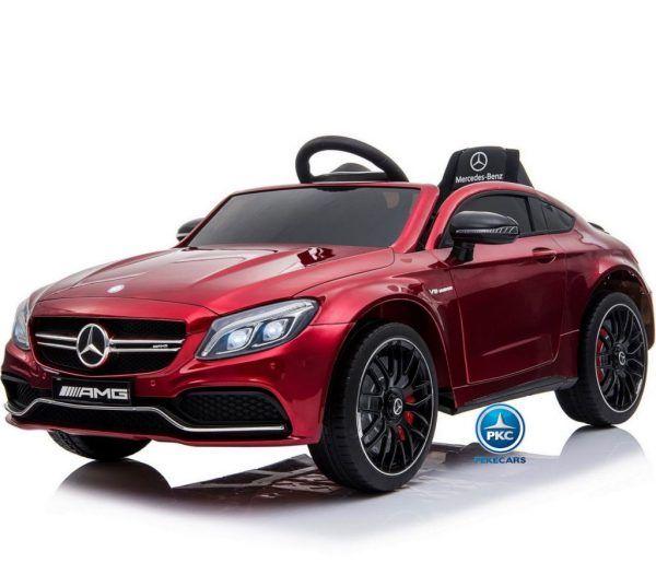 Mercedes C63 12V 2.4G Rojo Metalizado con Batería Extraíble 3