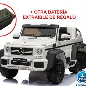 New Mercedes G63 2019 12V 2.4G Blanco + Batería Extra de Regalo