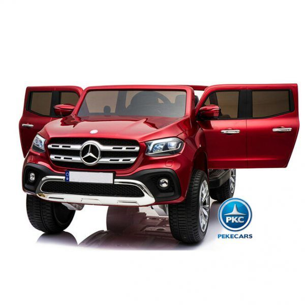 MERCEDES PICKUP X CLASS MP4 12V 2.4G ROJO METALIZADO 3