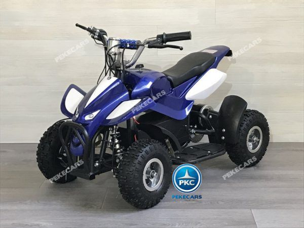QUAD ELÉCTRICO MINI ATV 800W 36V AZUL/BLANCO 3