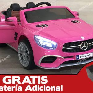Mercedes SL65 12V 2.4G MP4 Rosa (+ Batería Extra)