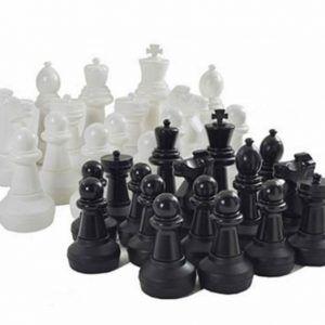 Piezas de ajedrez gigante