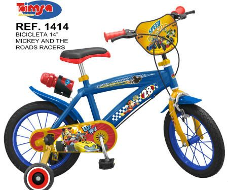 """BICICLETA MICKEY AND THE ROAD RACERS 14"""" 3"""
