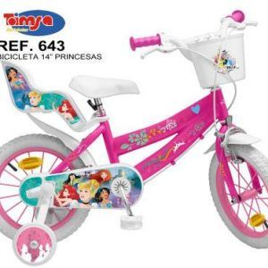 BICICLETA DISNEY PRINCESS 14″