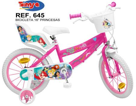 "BICICLETA DISNEY PRINCESS 16"" 3"