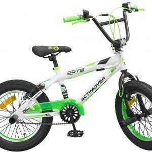 Bicicleta BMX 16 Pulgadas Freestyle Verde / Blanco