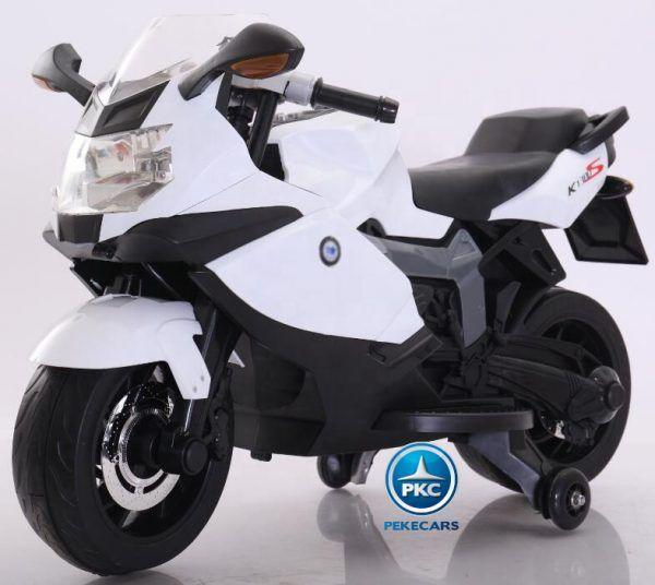 Moto Eléctrica BMW Style 12V K1300S Blanca 3