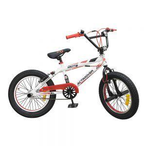 Bicicleta BMX 18 Pulgadas Freestyle Roja / Blanca