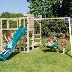 Parque infantil Crossfit con tobogan y columpio doble