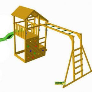 Parque Infantil Teide XL con Escalera de mono