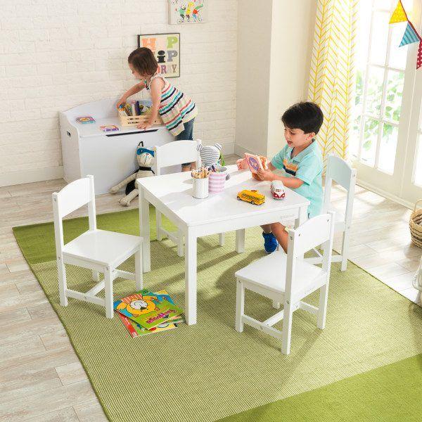 Kidkraft set de mesa y 4 sillas Farmhouse 21455 2