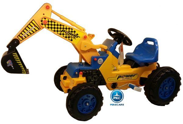Tractor a Pedales Power Superior con Pala Excavadora Delantera 3