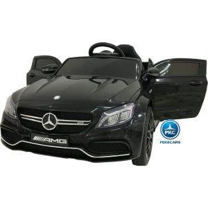 Mercedes C63 12V 2.4G Negro Metalizado con Batería Extraíble
