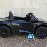 PEKECARS AUDI R8 SPYDER BLACK CON CONTROL REMOTO 12V 1P