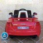 PEKECARS AUDI TT RS 12V RED 2.4G 12V