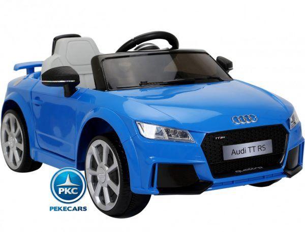 PEKECARS AUDI TT RS 12V BLUE 2.4G 5