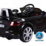 PEKECARS AUDI TT RS 12V BLACK 2.4G