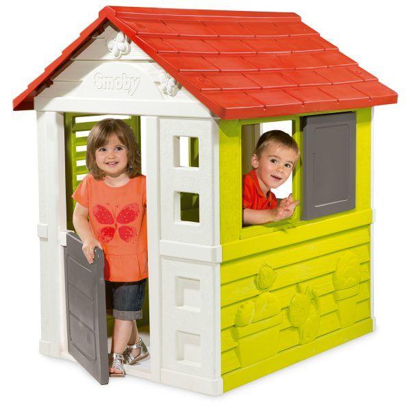 Casa de juguete Nature II verde, roja y blanca de Smoby (810712) 3